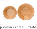 wood plate isolated on white background 40029468