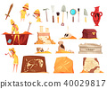 archeology, set, icons 40029817