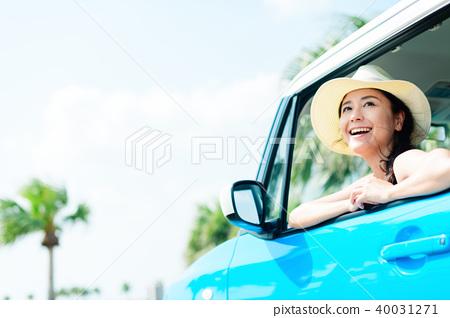 年輕女子車 40031271