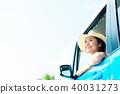 年輕女子車 40031273
