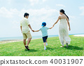年輕的父母和孩子 40031907