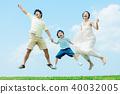 ภาพผู้ปกครองและเด็กที่ร่าเริง 40032005