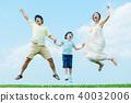 ภาพผู้ปกครองและเด็กที่ร่าเริง 40032006