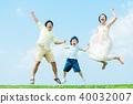 ภาพผู้ปกครองและเด็กที่ร่าเริง 40032007