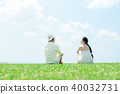 Man and woman couple large sky 40032731