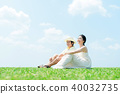 Man and woman couple large sky 40032735