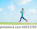 달리기하는 여성 40033783