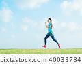 跑步的女人 40033784