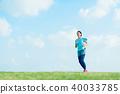 달리기하는 여성 40033785