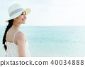 ผู้หญิงคนหนึ่งกำลังเดินทางผู้หญิง 40034888