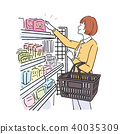 便利店女人购物 40035309