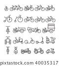 Bicycle Icon set 40035317