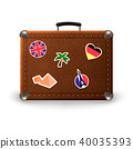luggage, vector, suitcase 40035393