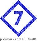 菱形涂鸦风格7号 40036404