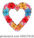 floral, flower, vector 40037018