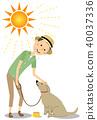 年轻人中暑对策狗走 40037336