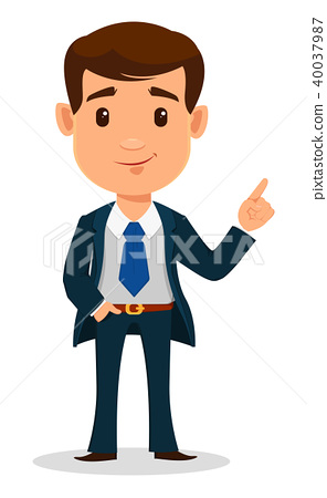 Business man cartoon character in smart clothes 40037987