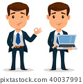 businessman, cartoon, vector 40037991