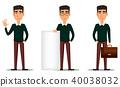 businessman cartoon character 40038032