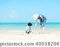 여름의 부모와 자식 바다 40038206