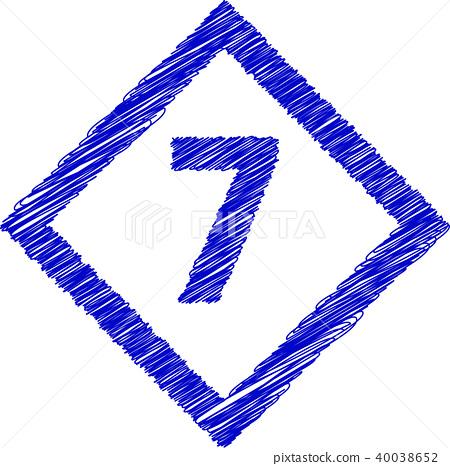 钻石数字涂鸦风格7 40038652