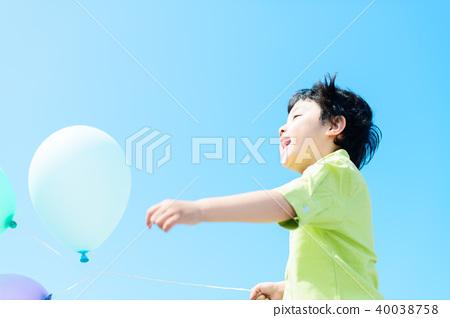 氣球和兒童 40038758