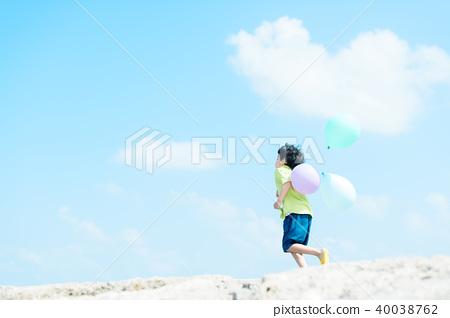氣球和兒童 40038762