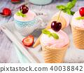 ice, cream, strawberry 40038842