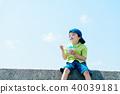 夏天的孩子刨冰 40039181