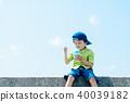 夏天的孩子刨冰 40039182