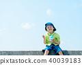 夏天的孩子刨冰 40039183