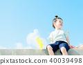 天空和儿童风车 40039498