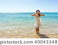 海滩 女性 女 40043348