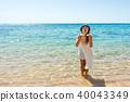 海滩 女性 女 40043349