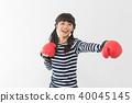 젊은 여성 운동 권투 40045145