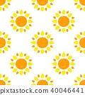 Seamless pattern with yellow and orange suns 40046441