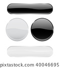 buttons, white, black 40046695