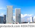 與塔公寓的都市風景 40047094