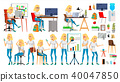 Business Woman Character Vector. In Action. Office. IT Startup Business Company. Blonde Elegant 40047850