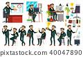 Boss CEO Character Vector. CEO, Managing Director, Representative Director. Poses, Emotions. Boss 40047890
