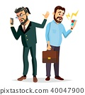 Boss Shouting On Phone Vector. Screaming, Problem, Quarrel Concept. Boss In Action. Talking To Each 40047900