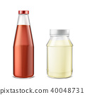 Vector set of bottles with ketchup and mayonnaise 40048731
