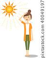 年轻女子的阳光 40049197