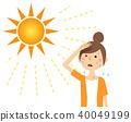 年轻女子的阳光 40049199