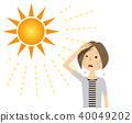 年轻女子的阳光 40049202