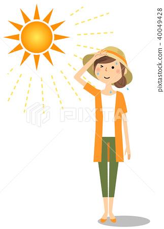 年轻女子中暑措施 40049428
