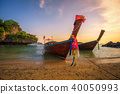 Thai longtail boats parked at the Koh Hong island in Thailand 40050993