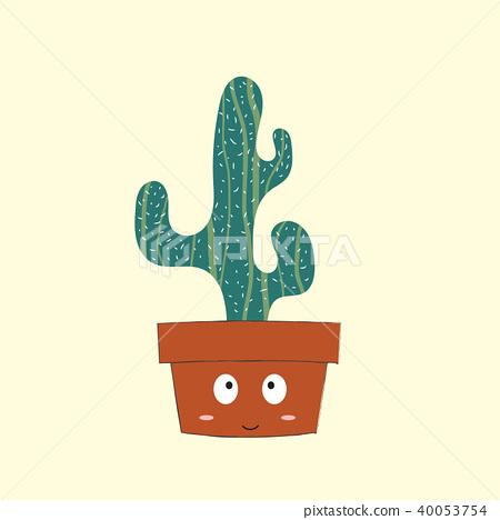 Cute cactus cartoon 40053754
