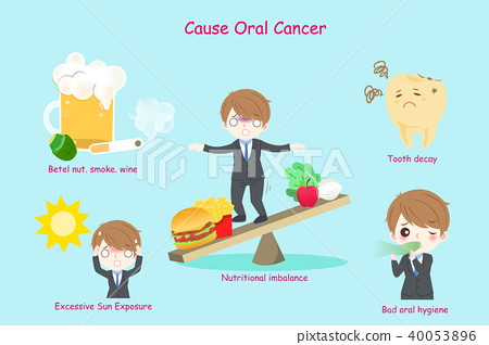 businessman with oral cancer 40053896