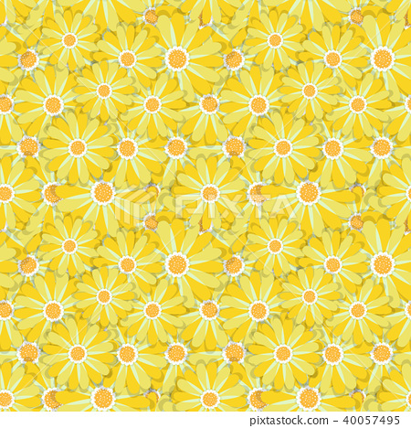 Simple cute pattern in abstract flowers. Ditsy print. Floral seamless background. Fashion prints 40057495